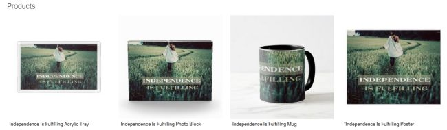Independence Is Fulfilling (Inspirational Downloads Customized Products)