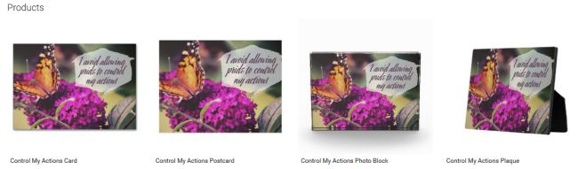 Control My Actions (Inspirational Downloads Customized Products)