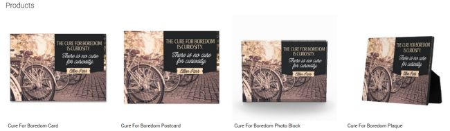 Cure For Boredom (Inspirational Downloads Customized Products)