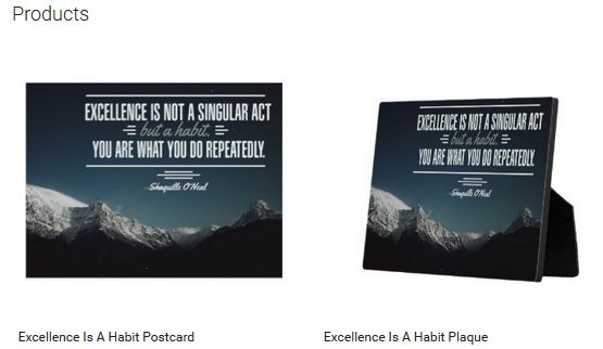 Excellence Is A Habit (Inspirational Downloads Customized Products)