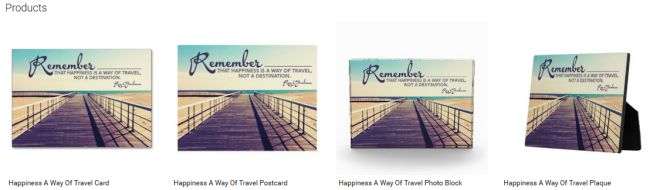Happiness A Way Of Travel (Inspirational Downloads Customized Products)