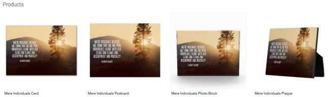 Mere Individuals (Inspirational Downloads Customized Products)