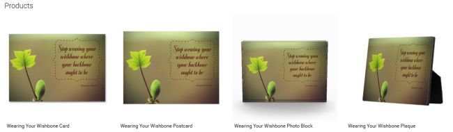Wearing Your Wishbone (Inspirational Downloads Customized Products)
