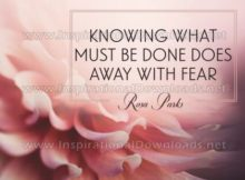 Knowing What Must Be Done by Inspirational Downloads (Inspirational Graphic Quote by Inspirational Downloads)