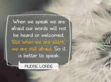 Our Words by Audre Lorde (Inspirational Graphic Quote by Inspirational Downloads)