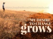 My Desire To Change by Inspirational Downloads (Inspirational Graphic Quote by Inspirational Downloads)