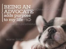Being An Advocate by Inspirational Downloads Graphic Quote