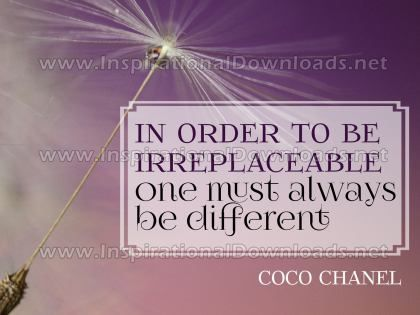 Always Be Different by Coco Chanel Inspirational Graphic Quote