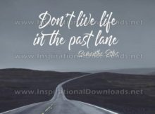 Life In The Past Lane by Samantha Ettus Inspirational Graphic Quote