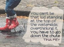 The Chute by Tina Fey Inspirational Graphic Quote