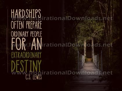 Extraordinary Destiny by C.S. Lewis Inspirational Graphic Quote