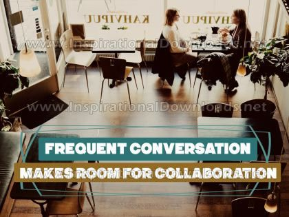 Makes Room For Collaboration by Positive Affirmations Inspirational Graphic Quote