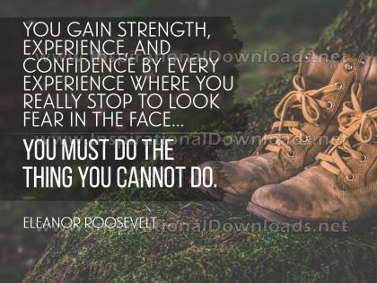 Do The Things You Cannot by Eleanor Roosevelt Inspirational Graphic Quote