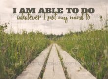 Whatever I Put My Mind by Positive Affirmations Inspirational Graphic Quote