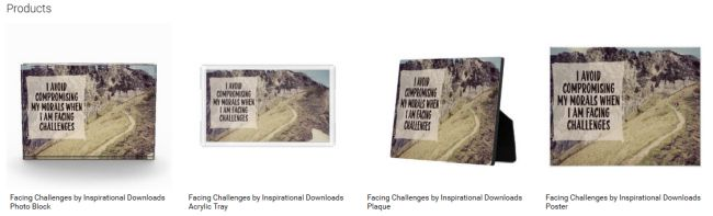 Facing Challenges (Inspirational Downloads Customized Products)
