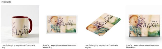 Love To Laugh (Inspirational Downloads Customized Products)