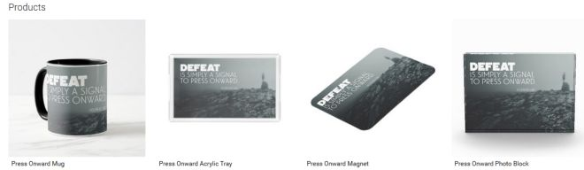 Press Onward Inspirational Downloads Customized Products