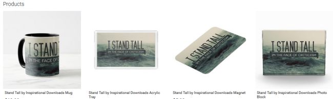 Stand Tall (Inspirational Downloads Customized Products)