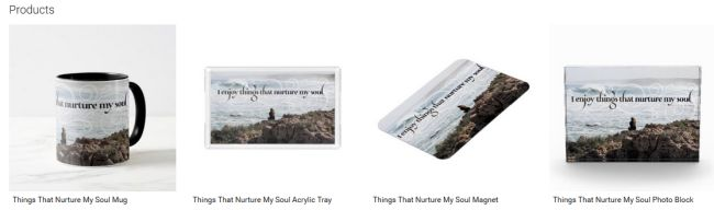 Things That Nurture My Soul Inspirational Downloads Customized Products