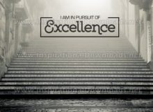 Pursuit Of Excellence by Positive Affirmations Inspirational Graphic Quote