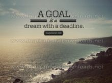 A Dream With A Deadline by Napoleon Hill Inspirational Graphic Quote