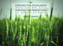 Striving For Excellence by Harriet Braiker Inspirational Graphic Quote