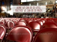 Together We Can Do So Much by Helen Keller Inspirational Graphic Quote