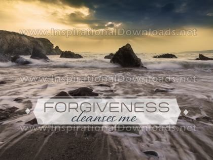 Forgiveness Cleanses Me by Positive Affirmations Inspirational Graphic Quote