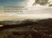 Cause Change And Lead by Ray Norda Inspirational Graphic Quote