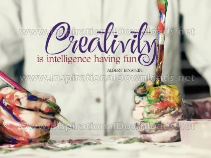 Creativity Is Intelligence by Albert Einstein Inspirational Graphic Quote