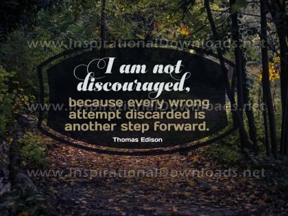 Step Forward by Thomas Edison Inspirational Graphic Quote