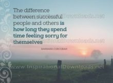 Successful People by Barbara Corcoran Inspirational Graphic Quote