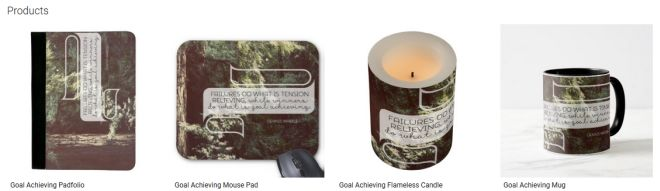 Goal Achieving Inspirational Downloads Customized Products
