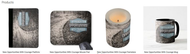 New Opportunities With Courage Inspirational Downloads Customized Products