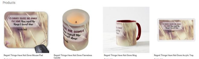 Regret Things Have Not Done Inspirational Downloads Customized Products