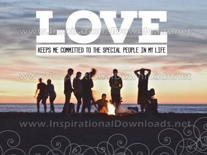 Love Keeps Me Committed by Positive Affirmations Inspirational Graphic Quote