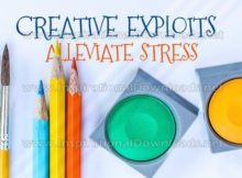 Creative Exploits Alleviate Stress by Positive Affirmations Inspirational Graphic Quote