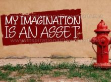 Imagination Is An Asset by Positive Affirmations Inspirational Graphic Quote
