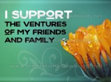 Support The Ventures by Positive Affirmations Inspirational Graphic Quote