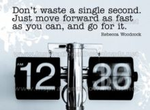 Move Forward As Fast by Rebecca Woodcock Inspirational Graphic Quote