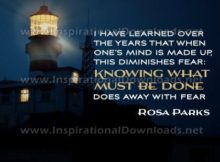 One's Mind Is Made Up by Rosa Parks Inspirational Graphic Quote
