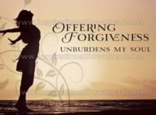 Offering Forgiveness by Positive Affirmations Inspirational Graphic Quote