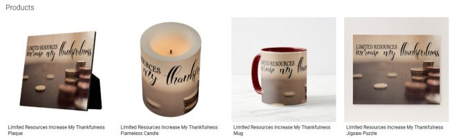 Limited Resources Increase My Thankfulness Inspirational Downloads Customized Products