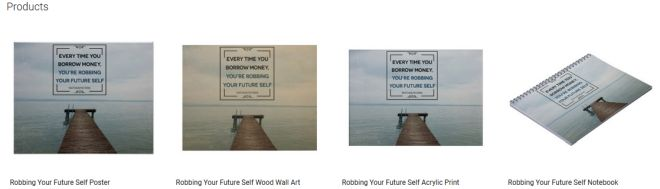Robbing Your Future Self Inspirational Downloads Customized Products