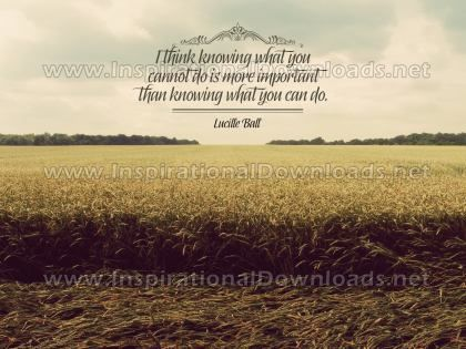 Knowing What You Can Do by Lucille Ball Inspirational Graphic Quote
