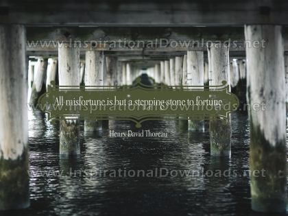 Stepping Stone To Fortune by Henry David Thoreau Inspirational Graphic Quote