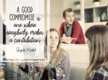 Good Compromise by Angela Merkel Inspirational Graphic Quote