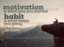 Motivation And Habit by Jim Rohn Inspirational Graphic Quote
