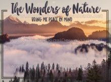 Wonders Of Nature by Positive Affirmations Inspirational Graphic Quote
