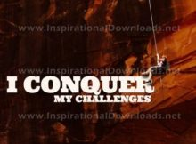 I Conquer My Challenges by Positive Affirmations Inspirational Graphic Quote